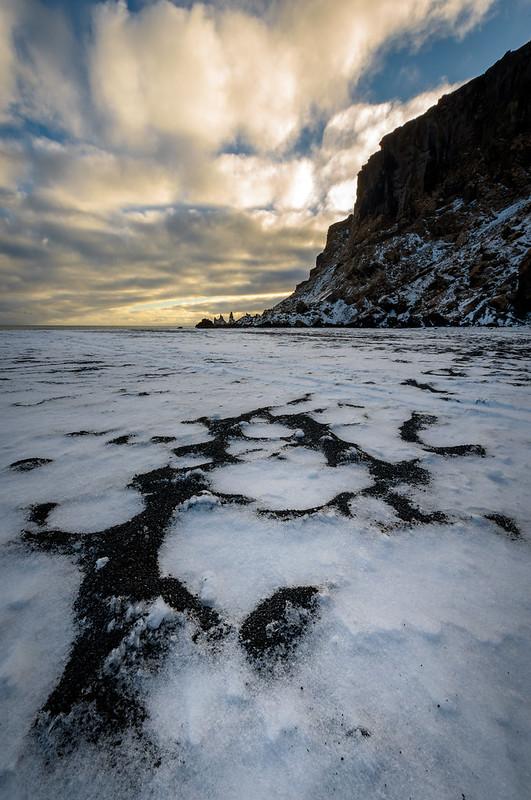 Reynisdrangar, depuis la plage de Vik