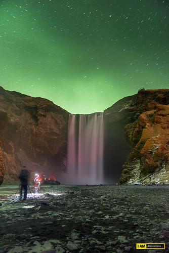vatnajökull breiðamerkurjökull iceland skogafoss waterfall lake northernlight aurora ice cold sunset star nikon nikonphotographer nikond610 iamnikon