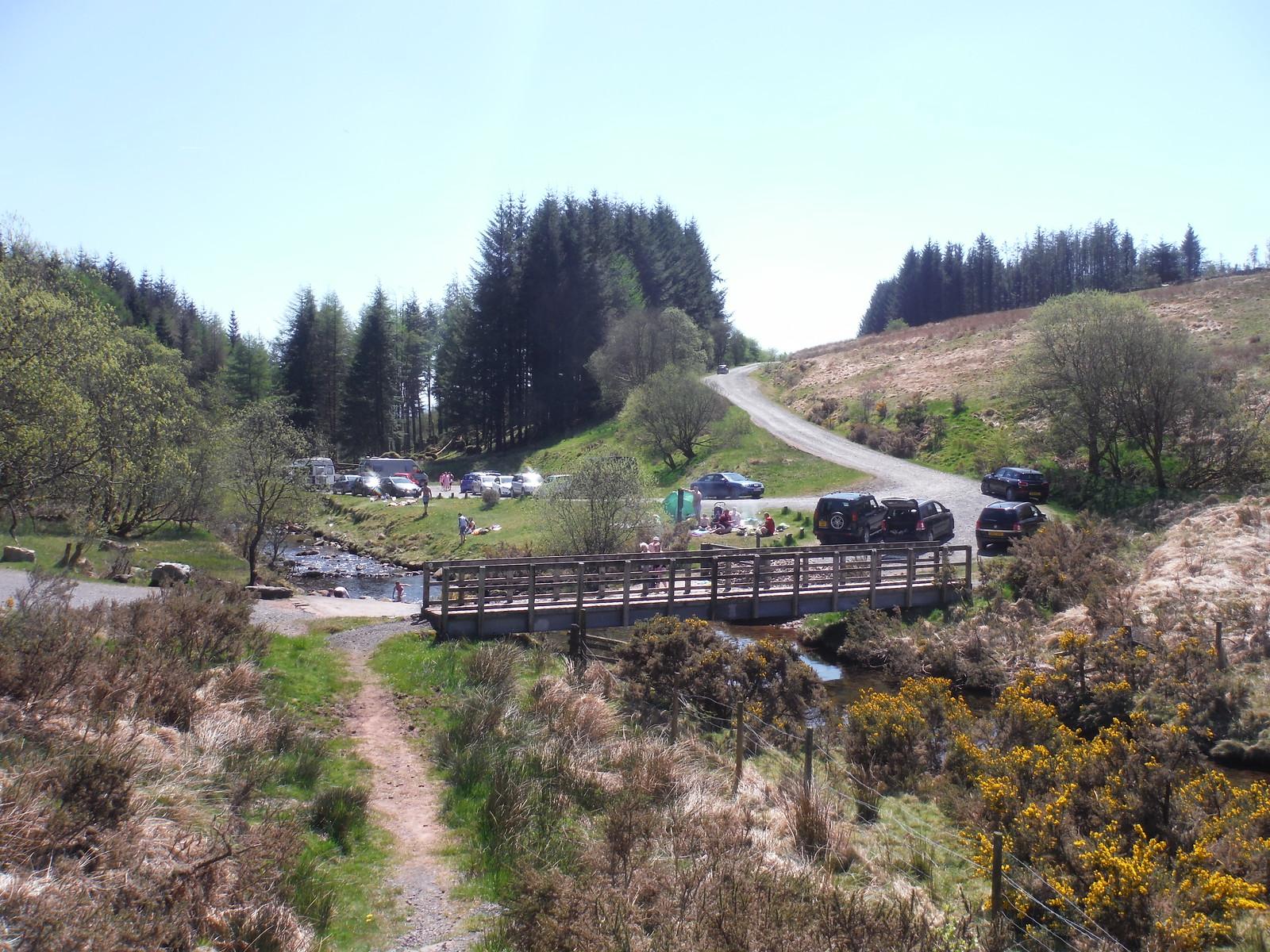 Crossing of the Afon Llia SWC Walk 307 - Fforest Fawr Traverse (Craig y Nos to Llwyn-y-celyn) [Beacons Way Route]