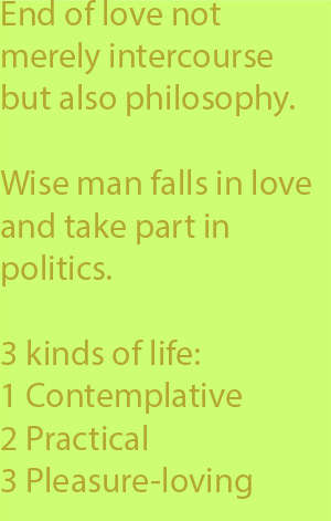 5-1 three kinds of life, the contemplative, the practical, and the pleasure-loving
