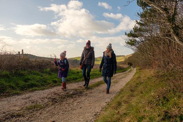 Family walk in the woods - DSCF5885