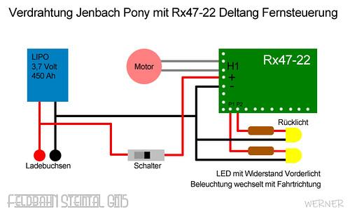 Verdrahtung Jenbach Pony für Deltang Steuerung | by Bausteineck