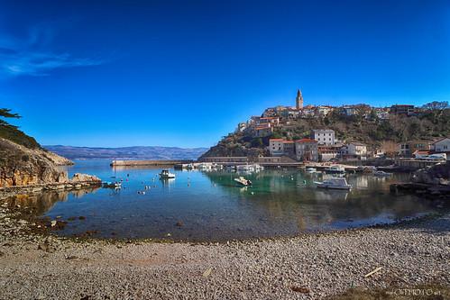 town place city stony stone house sea adriatic vrbnik krk island hrvatska croatia canon europe old historic heritage