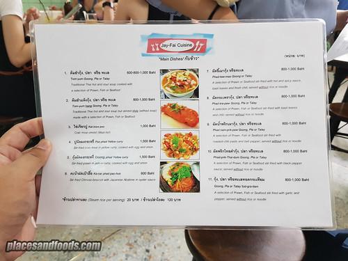 bangkok jay fai menu | by placesandfoods.com