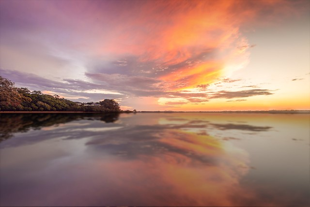Aitumnul Reflections. As the sun was setting over the bay in Brisbane the weather gods delivered!