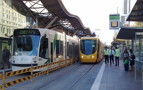 Grand Prix trams, March 2009