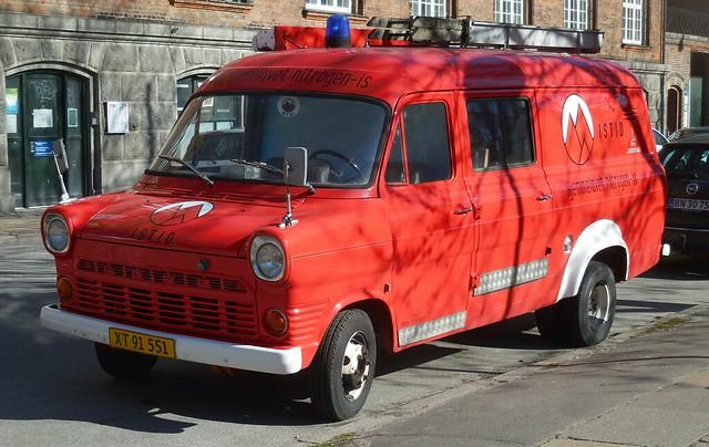 Retired German fire Ford Transit XT91551 now Copenhagen icecream truck