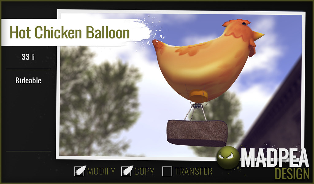 MadPea Easter Calendar - Day 9 - Hot Chicken Balloon! - TeleportHub.com Live!