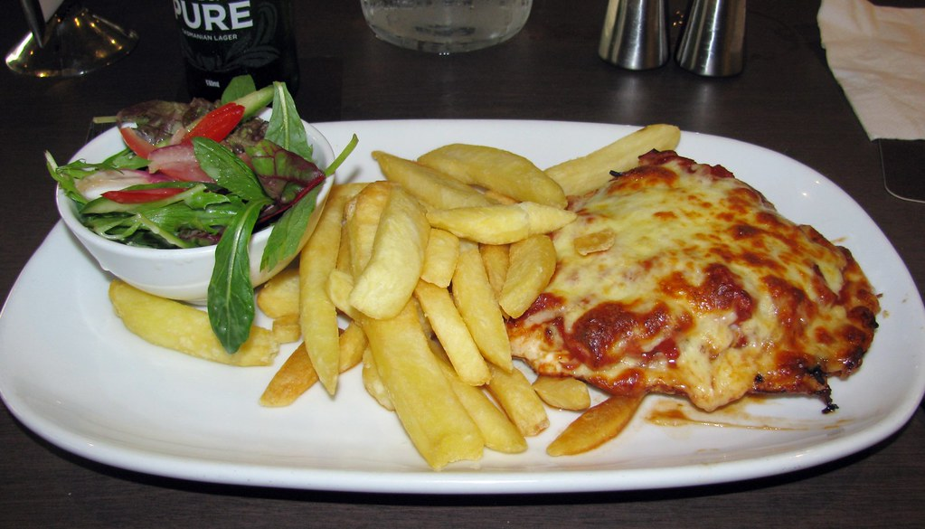 Chicken Parmigiana, Sydney Rowing Club, Abbotsford, Sydney, NSW.