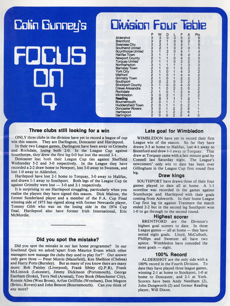 03-09-1977 Reading 2-1 Halifax Town 3