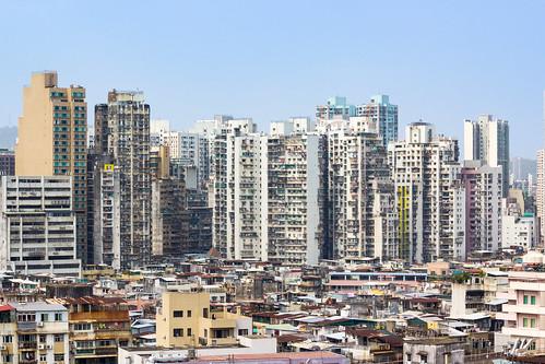 Sprawling Slums of Macau Seen from Monte Forte