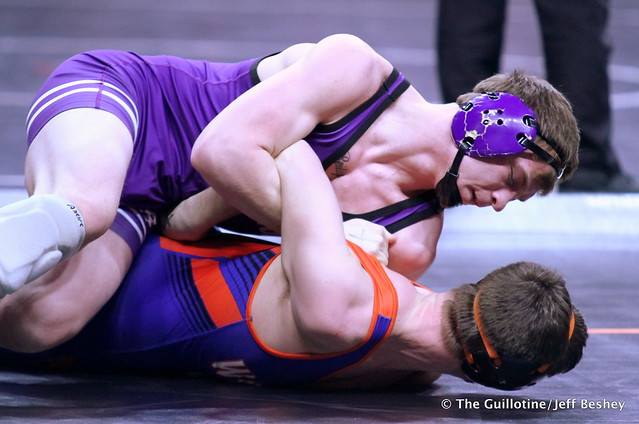 160 – Kelby O'Reilly (Goodhue) over Austin Carr (LPGEB) Fall 1:23. 190228AJF0088