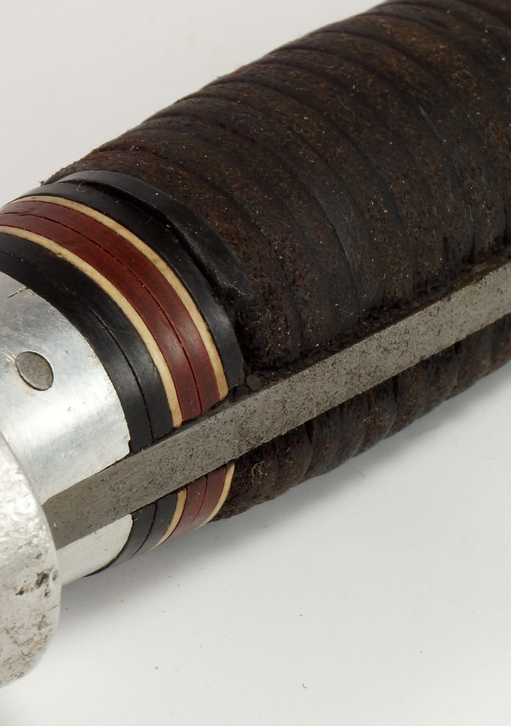 RD27730 Vintage The Coast Cutlery Axe Hatchet All Steel Leather Wrapped Handle Portland Oregon DSC09941