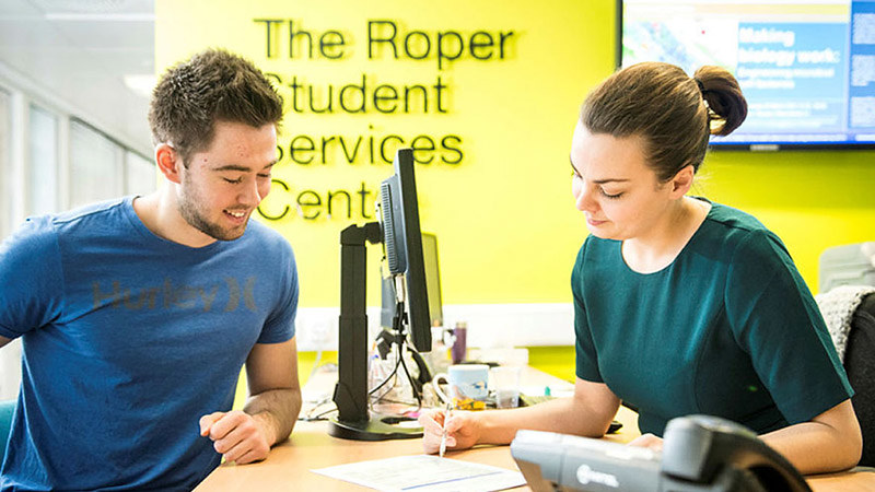 Student Services offering support.