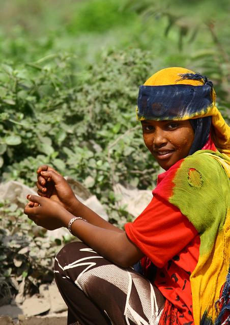 Girl from jebel saber, Yemen