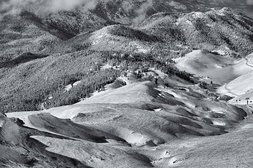landscape mountaintop parnassos snow ef70200mm f28l is ii usm ski resort greece athens kellaria fterolaka snowfall bw black white trails shadows slopes skier snowboard lift canon eos 5d mark iv top20greece