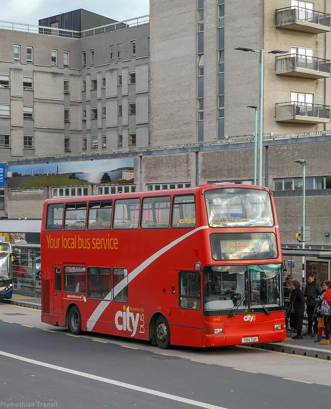Plymouth Citybus 442 Y814TGH