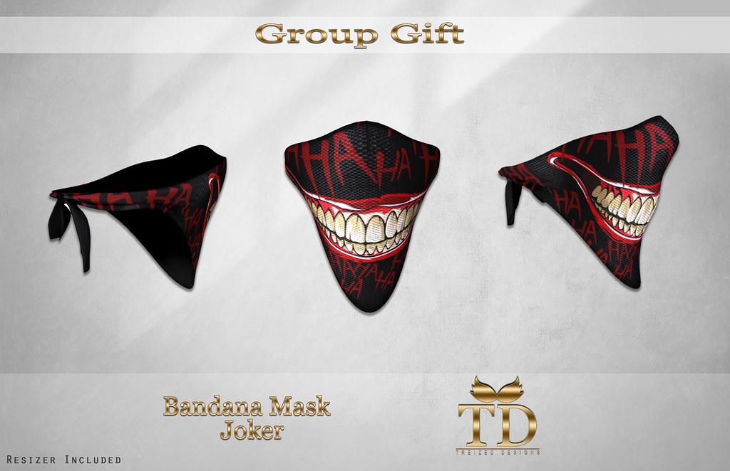 -Group Gift Bandana Mask joker Treized Designs –