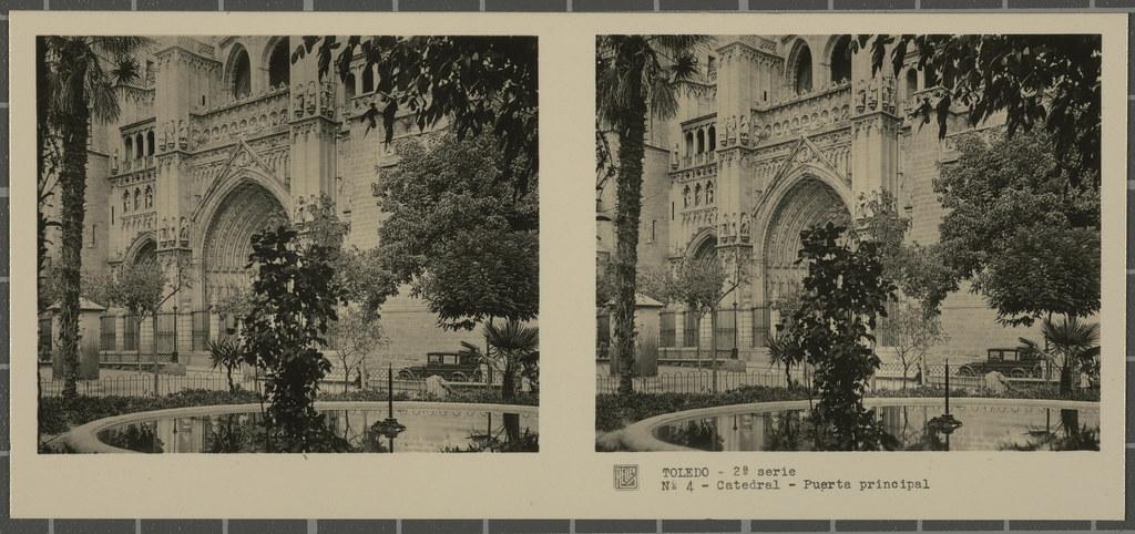 Plaza del Ayuntamiento. Colección de fotografía estereoscópica Rellev © Ajuntament de Girona / Col·lecció Museu del Cinema - Tomàs Mallol