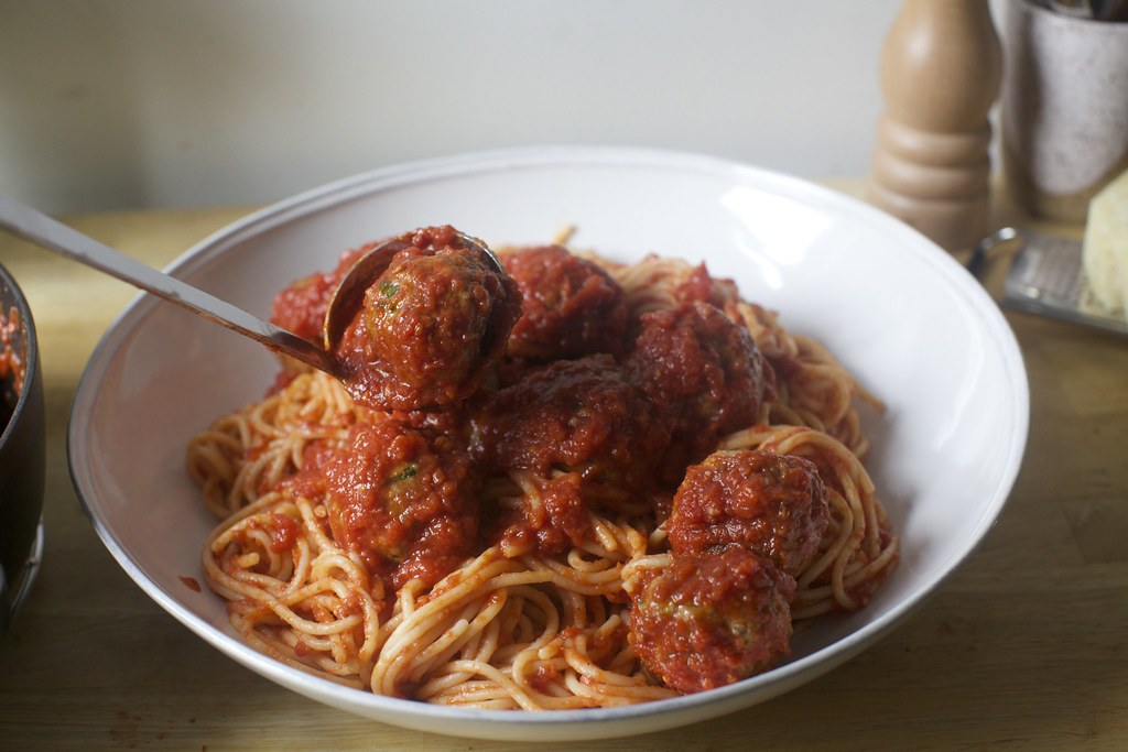 Meatballs On Top Perfect Spaghetti And Meatballs On Smitte Flickr