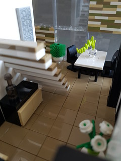 Checkered Tan House MOC. Dining area. | by betweenbrickwalls
