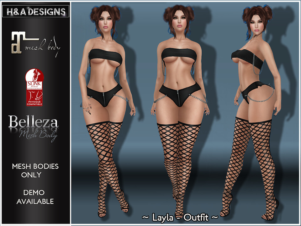 [H&A Designs]-Layla Outfit Black
