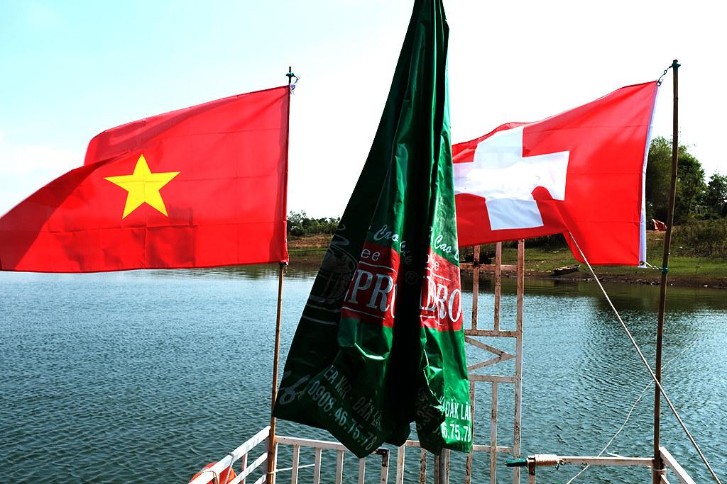 Vietnamese and Swiss at Peter Jenni's--Krong Buk