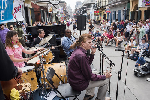 Mayumi Shara & New Orleans Jazz Letters play French Quarter Fest day 3 on April 13, 2019. Photo by Ryan Hodgson-Rigsbee RHRphoto.com