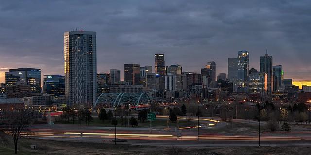 Cloudy Sunrise in Denver