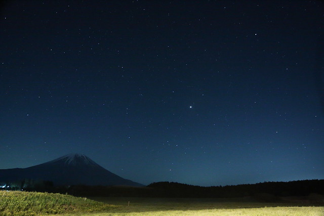 Mt.Fuji and the starry sky_HDR