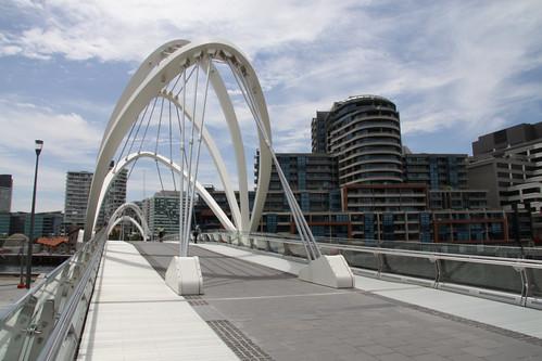 Looking across the Seafarers Bridge