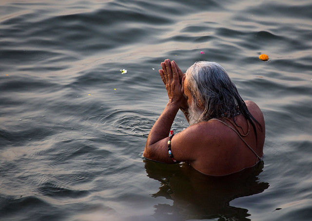 Morning Ablutions In The Ganges