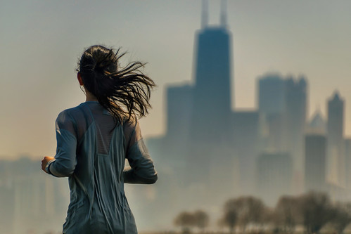 runner running sweat sweaty shine shiny sheen chicagolakefronttrail exercise recreation fit fitness cardio jog jogger jogging outdoors urban belmontharbor northside chicagoillinois cityofchicago skyline architecture cityscape buildings skyscrapers highrises towers shirt brunette longhair bounce bouncing stride gate trees cookcounty thewindycity chitown streetshooting streetphotography candid portrait chicagoan female youngwoman lakemichigan thegreatlakes nikond5100 tamron18270 photoshopbyfehlfarben thanksbinexo