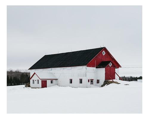 vscofilm barn winter beauce canada farm rural quebec landscape snow saintsylvestre québec ca