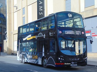 6150 Go North East Volvo Wright Gemini 2 on Toon Link Service X71 | by Dynamo: 5307, 5332