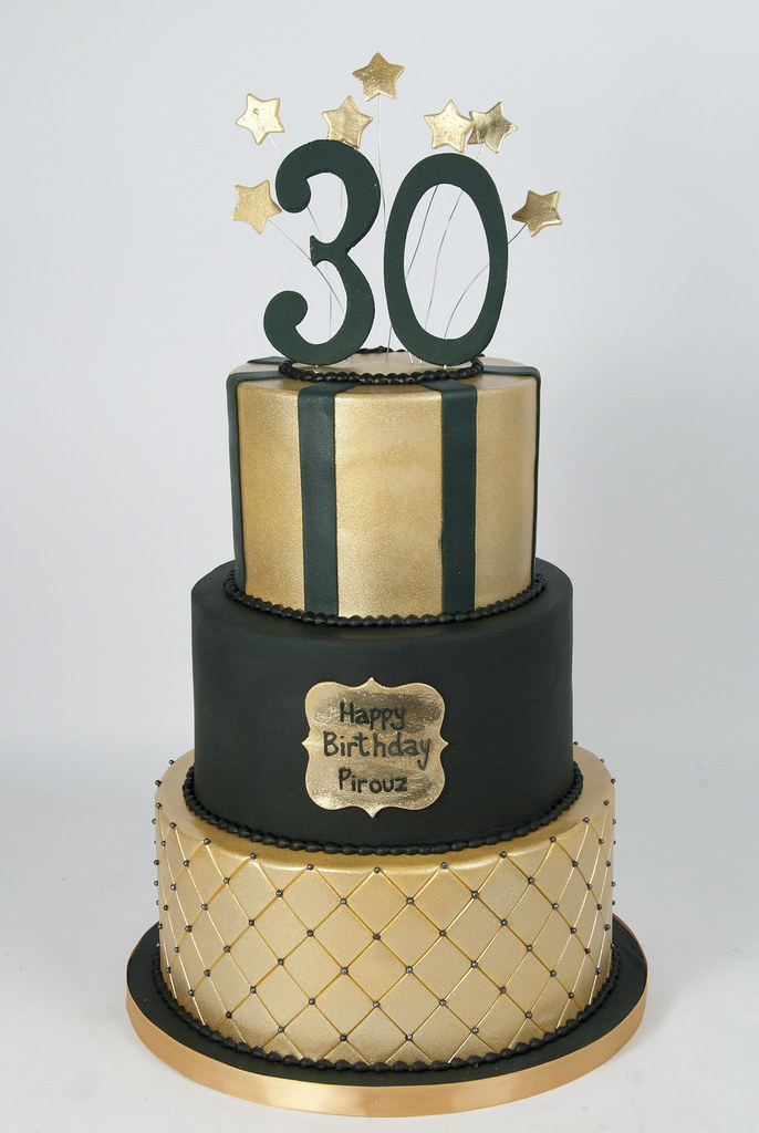 Swell Bc4660 Black Gold Guys 30Th Birthday Cake Toronto For The Love Funny Birthday Cards Online Elaedamsfinfo