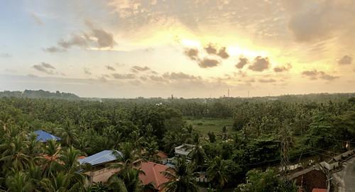 sunset thiruvananthapuram kerala india