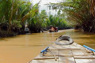 At Mekong river, Vietnam