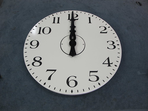 Union Station Winston Salem White Powdercoat dial 30-inch diameter clock by LUMICHRON ® TOWER CLOCKS | by Lumichron