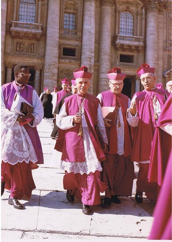 Concili Vaticà II, Octubre de 1963. D'esquerra a dreta Ramon Masnou de Vic, Josep Pont de Sogorb i Vicent Enrique Tarancón de Solsona