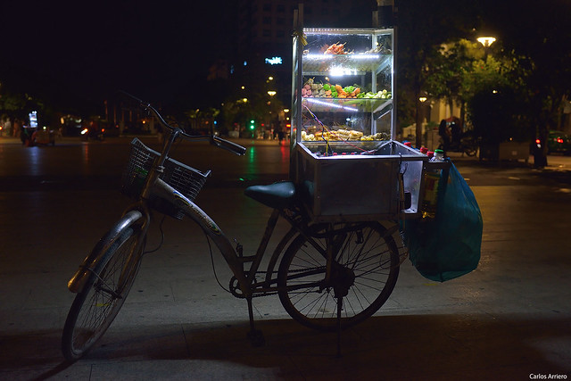Fast food in Ho Chi Minh (Vietnam).