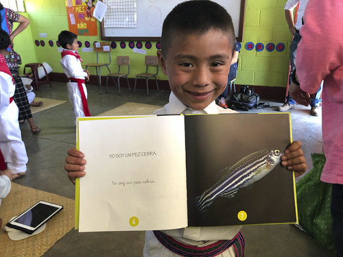 Guatemalan student with book