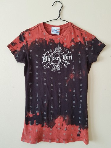 Women's Bleached/Distressed Whiskey Girl/ Toby Keith Shirt X Small   by shopthegasstation