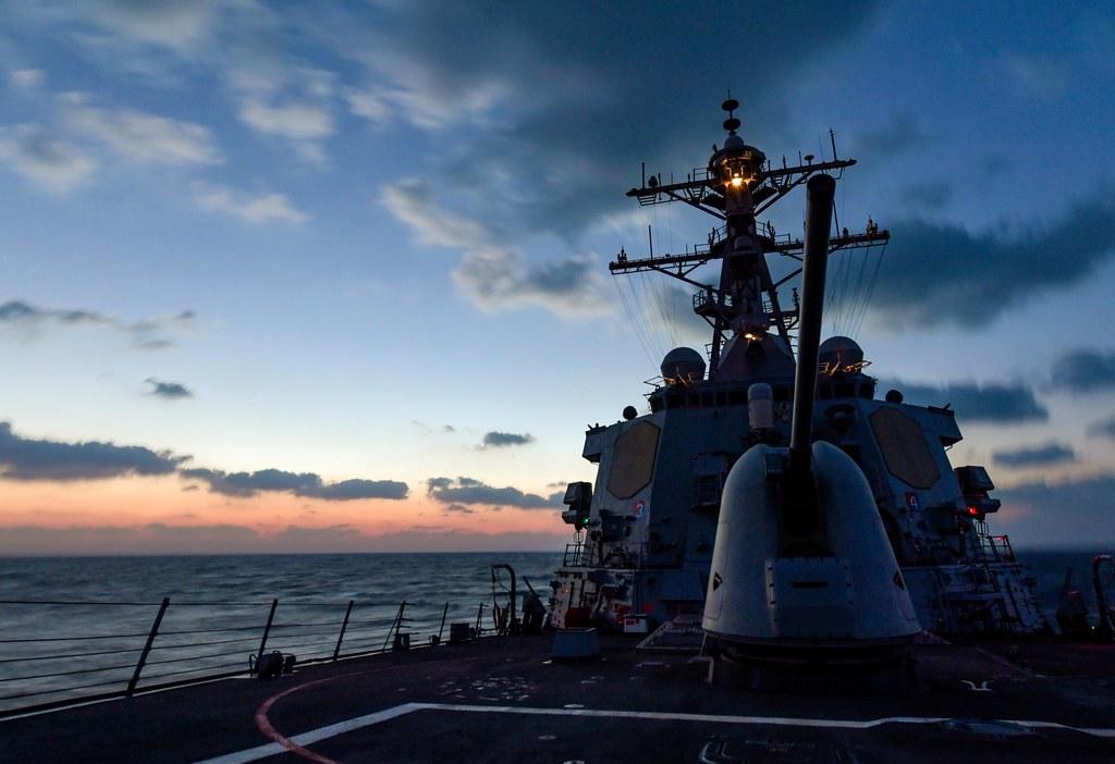 USS Mitscher (DDG 57) transits the Arabian Gulf  | ARABIAN G