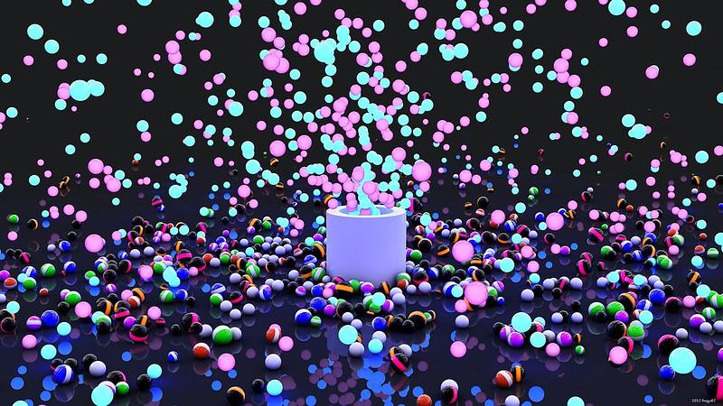 Обои взрыв, краска, шары, полет картинки на рабочий стол, фото скачать бесплатно