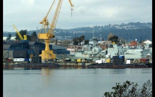 HMCS CHICOUTIMI and HMCS VICTORIA alongside March 14, 2019 | by Maple Leaf Navy Magazine