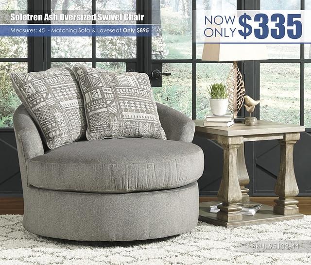 Soletren Ash Oversized Swivel Chair_95103-44
