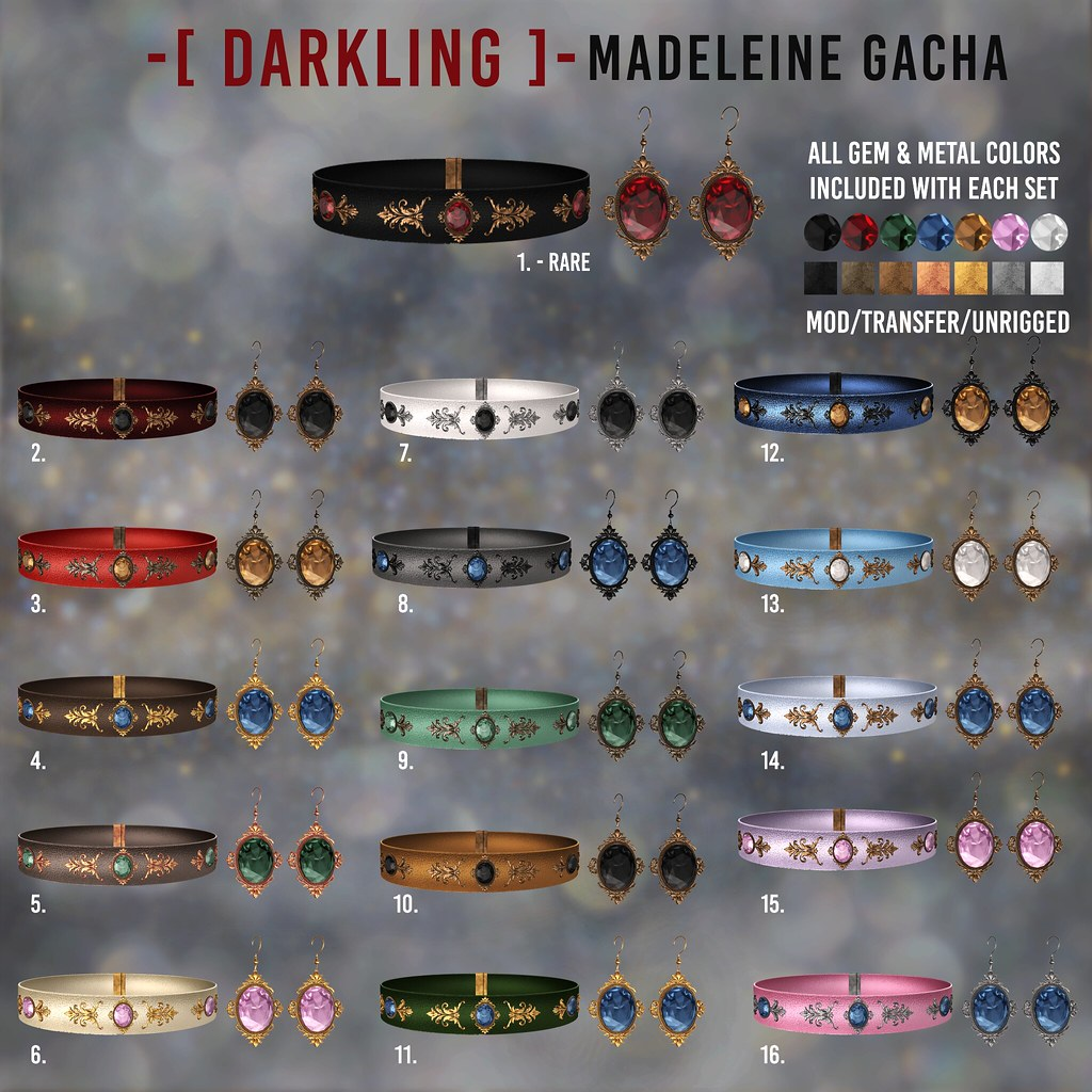 -[ darkling ]- Madeleine Gacha – Gacha Key @The Epiphany