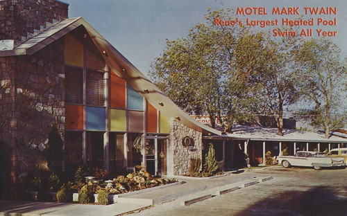 nevada vintage motel marktwain pool postcard