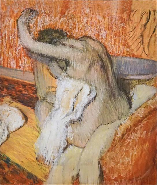 Après le bain d'E. Degas (Fondation Vuitton, Paris)